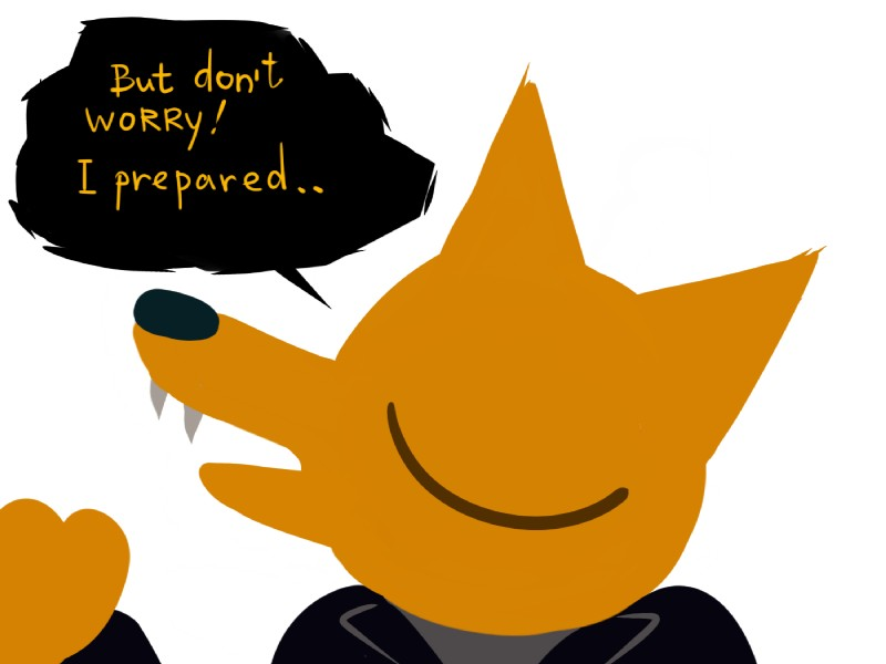 e926 4:3 canine extrasizedbob eyes_closed fangs fox fur gregg_(nitw) male mammal night_in_the_woods yellow_fur