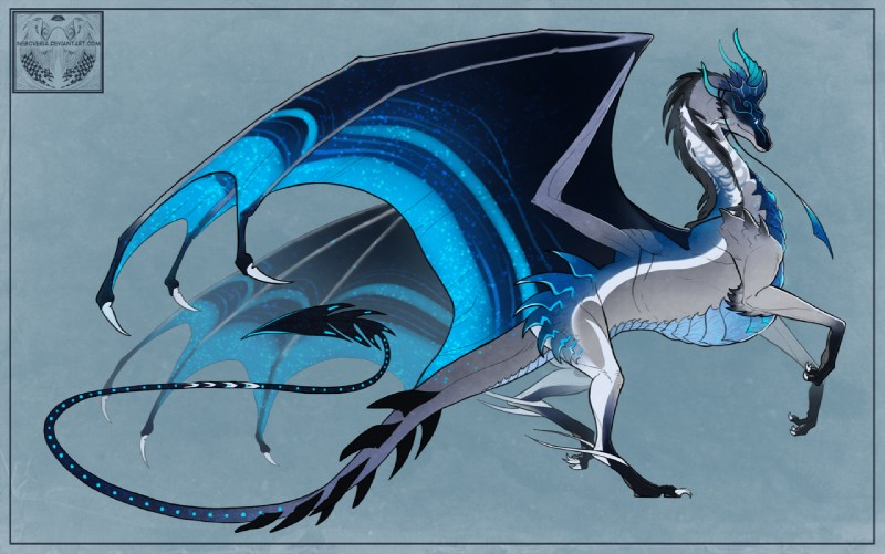 e926 2016 ambiguous_gender claws digital_media_(artwork) dragon feral horn membranous_wings neboveria scalie simple_background solo western_dragon wings