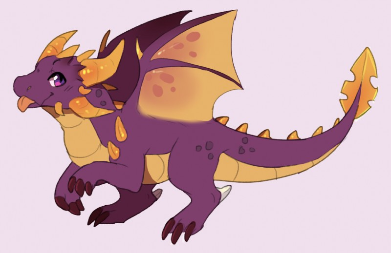 e926 azalea_(pandx) claws dragon female horn pandx red_eyes scalie smile solo spyro_the_dragon the_legend_of_spyro tongue tongue_out video_games western_dragon wings young