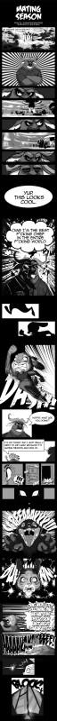 e926 anthro black_and_white bovine buffalo canine chief_bogo clothing comic disney feline female fox greninjazz greyscale judy_hopps lagomorph male mammal monochrome nick_wilde rabbit text zootopia