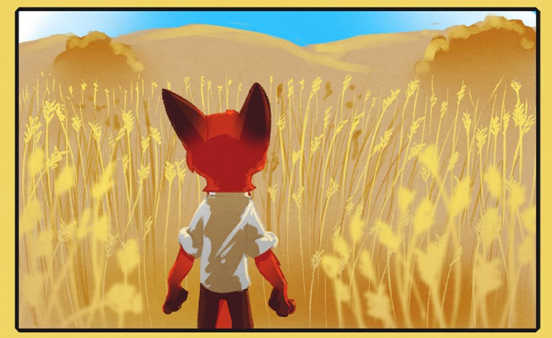 e926 2016 anthro canine clothed clothing comic disney fox fur male mammal mistermead nick_wilde outside red_fur solo zootopia