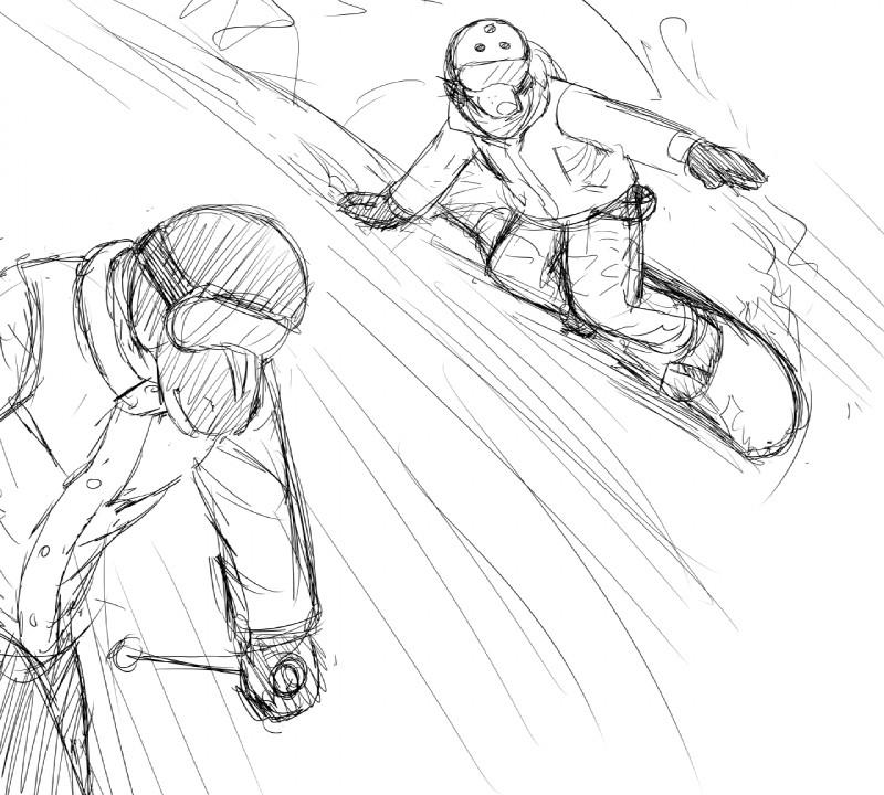 e926 anthro black_and_white canine dog duo equine eyewear female goggles hair hladilnik male mammal michelle_(hladilnik) monochrome ski skiing smile snow snowboard zebra zebra_son_(hladilnik)