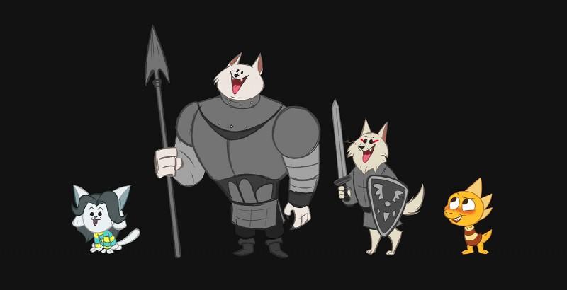 e926 2016 canine digital_media_(artwork) dog feline feral greater_dog group kritterart lesser_dog lizard mammal monster_kid reptile scalie tem temmie_(undertale) undertale video_games