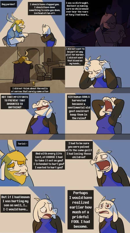 e926 asgore_dreemurr beard boss_monster caprine comic crown dialogue drama english_text facial_hair fangs fur horn long_ears mammal potoobrigham text toriel undertale video_games white_fur