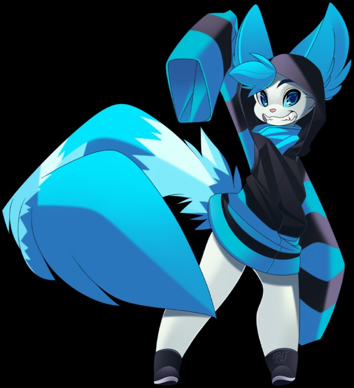 e926 alpha_channel anthro barefoot blue_eyes blue_hair canine clothed clothing digital_media_(artwork) hair male mammal phation simple_background smile solo stanidng transparent_background