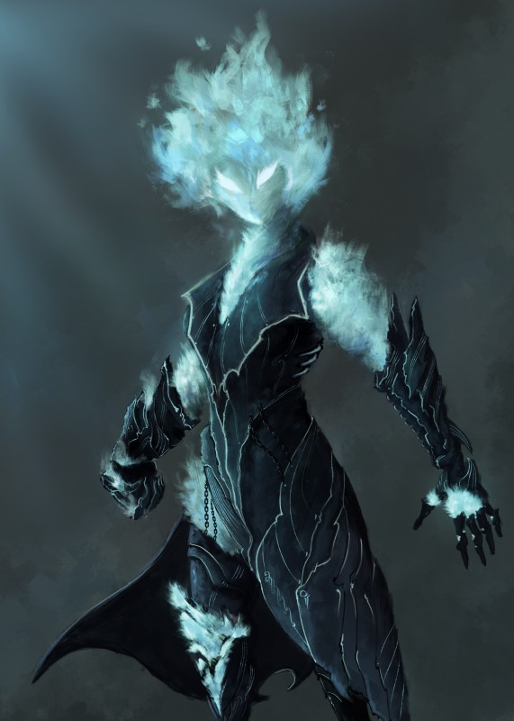 e926 2017 absurd_res armor clothing elemental female fire_elemental gauntlets gloves hi_res huge_filesize humanoid looking_at_viewer not_furry solo sprinkah standing