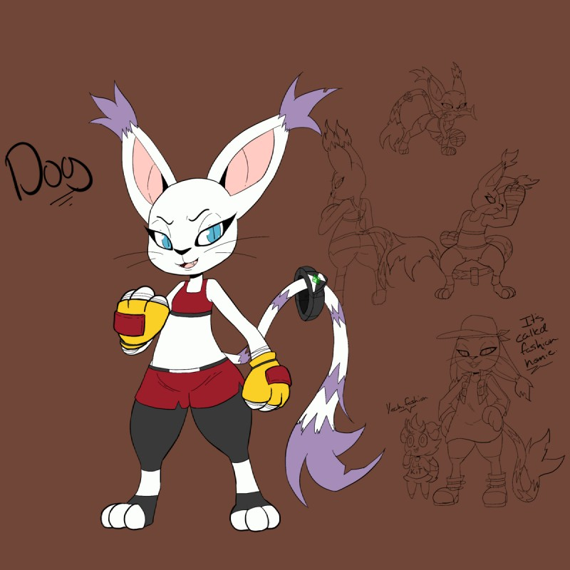 e926 2018 black_nose blue_eyes clothing crossover digimon dog_(character) ear_tuft espurr espurrinfowithlady fan_character feline female fish fist footwear fur gatomon gloves long_tail mammal marine model_sheet nintendo open_mouth paws pokémon pokémon_(species) shirt shoes sketch solo tail_ring top tuft video_games whiskers white_fur
