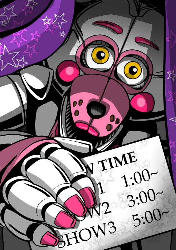 e926 2018 absurd_res animatronic canine digital_media_(artwork) five_nights_at_freddy's fox funtime_foxy_(fnafsl) hi_res machine mammal robot shu_20625 simple_background sister_location video_games