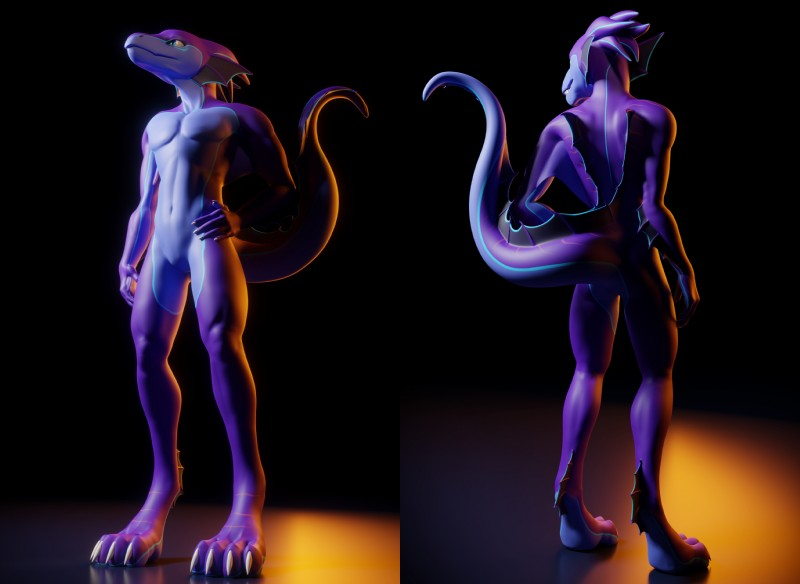 e926 2017 3d_(artwork) 4_toes anthro aquatic_dragon claws digital_media_(artwork) dragon feet hi_res hybrid male nude paws simple_background solo talan_(talan_strider) toe_claws toes webbed_hands white_claws wo262
