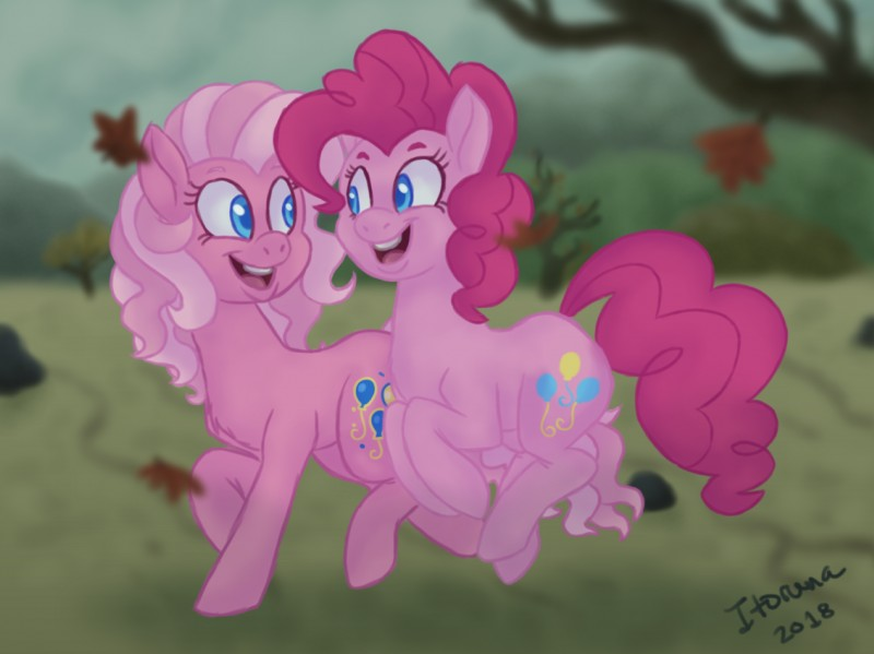 e926 2018 blue_eyes detailed_background digital_media_(artwork) earth_pony equine female friendship_is_magic fur hair horse itoruna mammal my_little_pony pink_fur pink_hair pinkie_pie_(mlp) pony