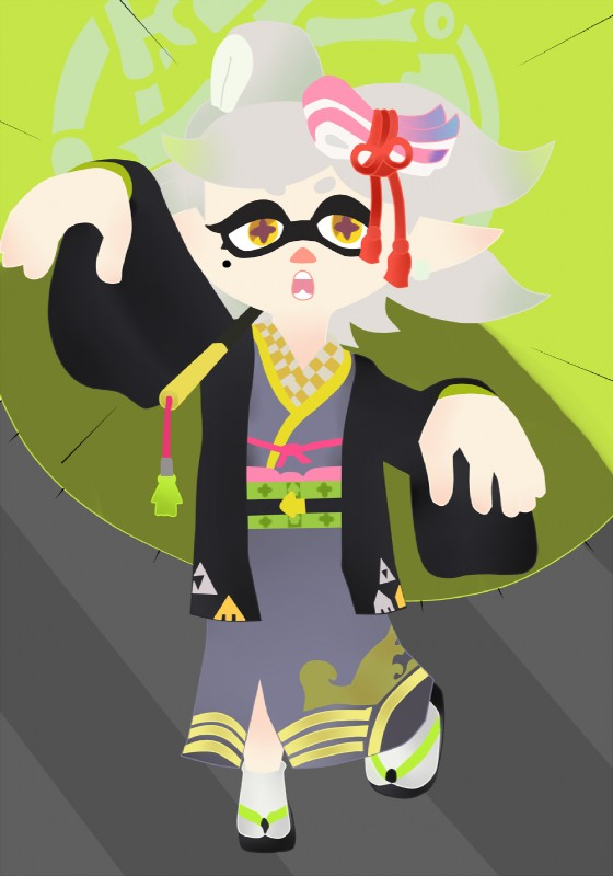 e926 cephalopod ear_piercing female humanoid inkling marie_(splatoon) marine nintendo not_furry piercing pose splatoon splatoon_2 video_games warioeag