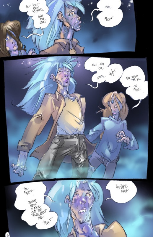 e926 comic dialogue digital_media_(artwork) duo english_text hi_res human legend_of_the_werehorse male mamabliss mammal not_furry surprise text transformation werehorse worried