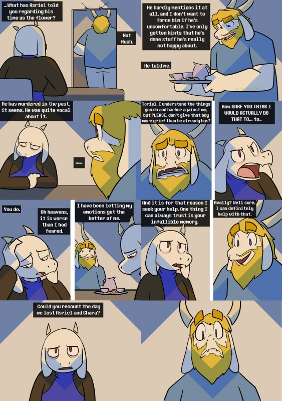 e926 asgore_dreemurr beard boss_monster caprine comic cup dialogue drama duo english_text facial_hair fangs fur goat horn long_ears mammal potoobrigham tea_cup tea_set text toriel undertale video_games white_fur