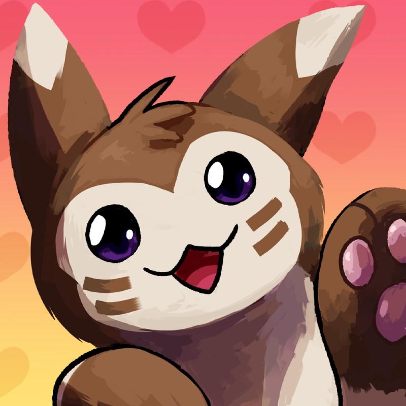 e926 ambiguous_gender blitzdrachin cookie food furret icon nintendo pokémon pokémon_(species) video_games