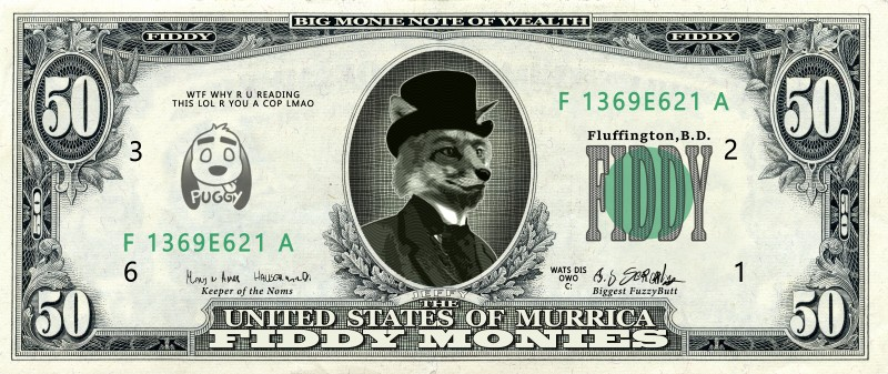 e926 absurd_res anthro canine classy clothed clothing english_text fox fur hat headgear hi_res male mammal money necktie number puggy solo suit text top_hat