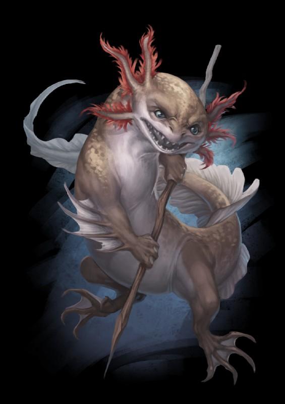 e926 alpha_channel ambiguous_gender amphibian axolotl blue_eyes digital_media_(artwork) feral holding_object lizard open_mouth pechschwinge reptile salamander scalie simple_background solo teeth transparent_background weapon