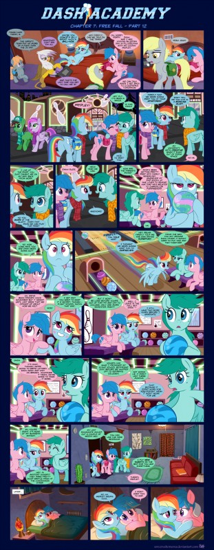 e926 2016 absurd_res avian bag beak bed blush bowling bowling_ball bowling_pin cactus comic cutie_mark derpy_hooves_(mlp) dialogue equine feathered_wings feathers female firefly_(pre-g4) friendship_is_magic gilda_(mlp) gryphon hair hi_res lava_lamp lying mammal multicolored_hair my_little_pony pegasus rainbow rainbow_dash_(mlp) rainbow_hair scarf sorcerushorserus tears wings