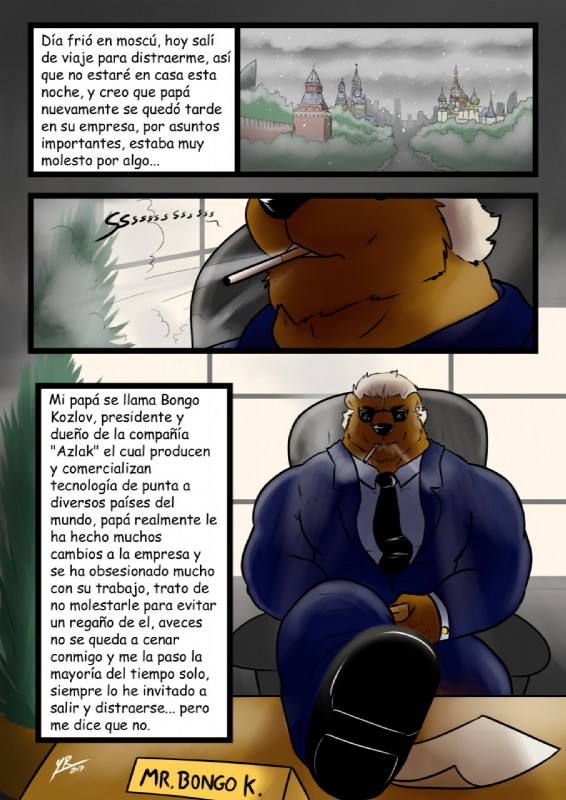 e926 bear clothing comic male mammal spanish_text text translation_request yasserlion