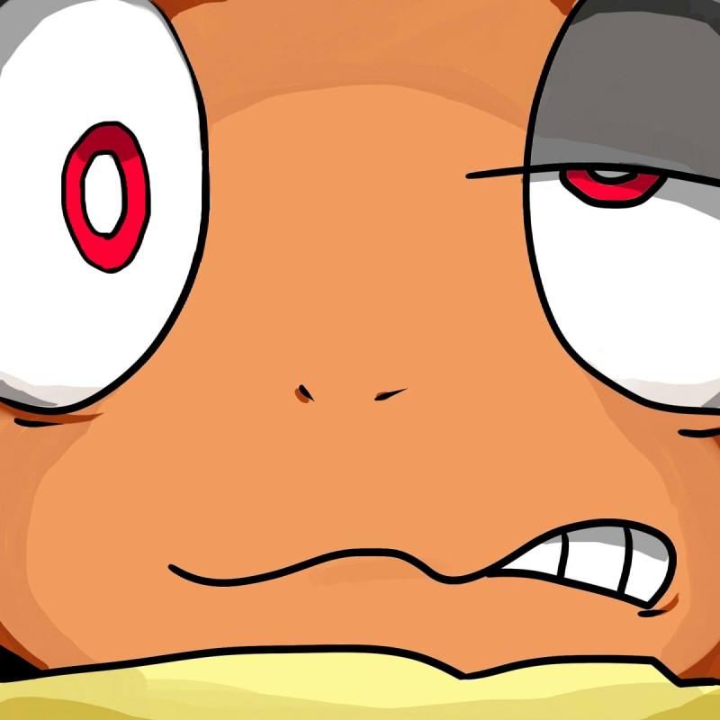 e926 2016 close-up headshot_portrait hi_res looking_at_viewer nintendo nishikunsp orgasm_face pokémon pokémon_(species) portrait scrafty solo video_games